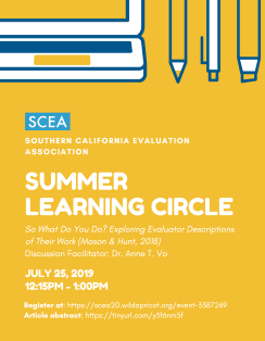 SCEA Summer 2019 Learning Circle Flyer